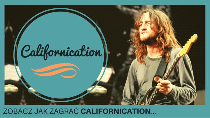 jak zagrać californication